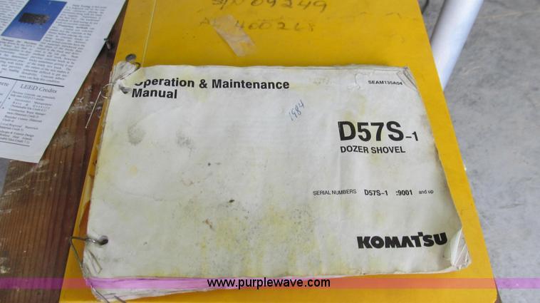 1985 Komatsu D57S track loader | Item G2019 | SOLD! July 25