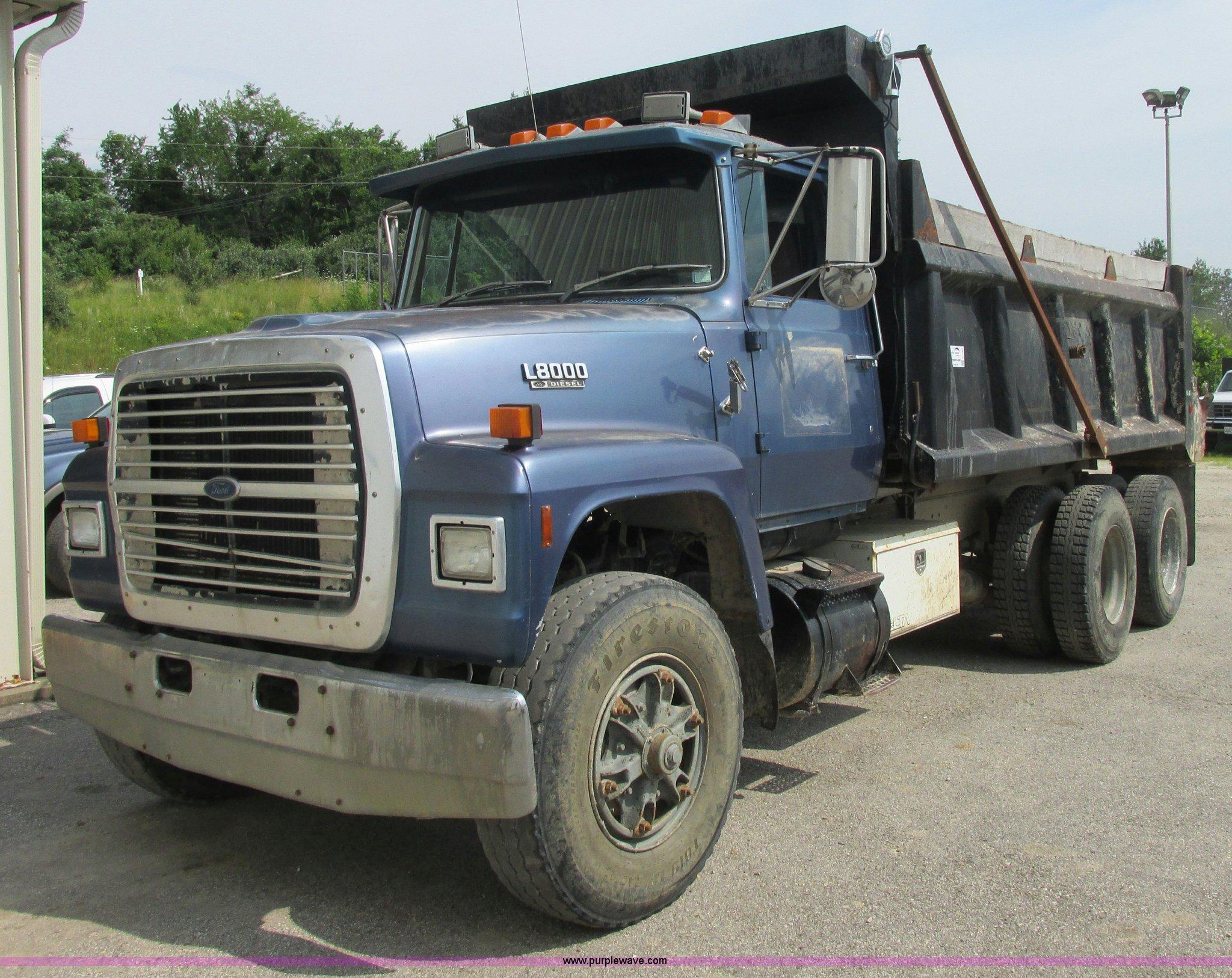 Ford Dump Truck >> 1989 Ford L8000 Tandem Axle Dump Truck Item E7283 Sold
