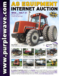 View July 31 Ag Equipment Auction flyer