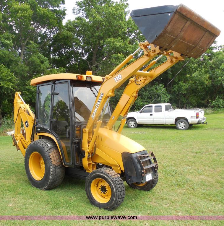 John Deere 110 Backhoe : John deere tlb tractor loader backhoe item