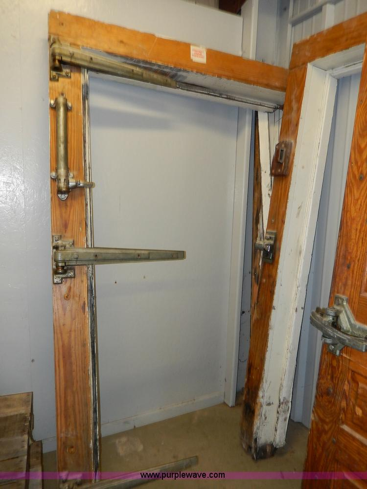 ... AS9380 Image For Item AS9380 (2) Jamison Wood Walk In Freezer Doors And  Jams