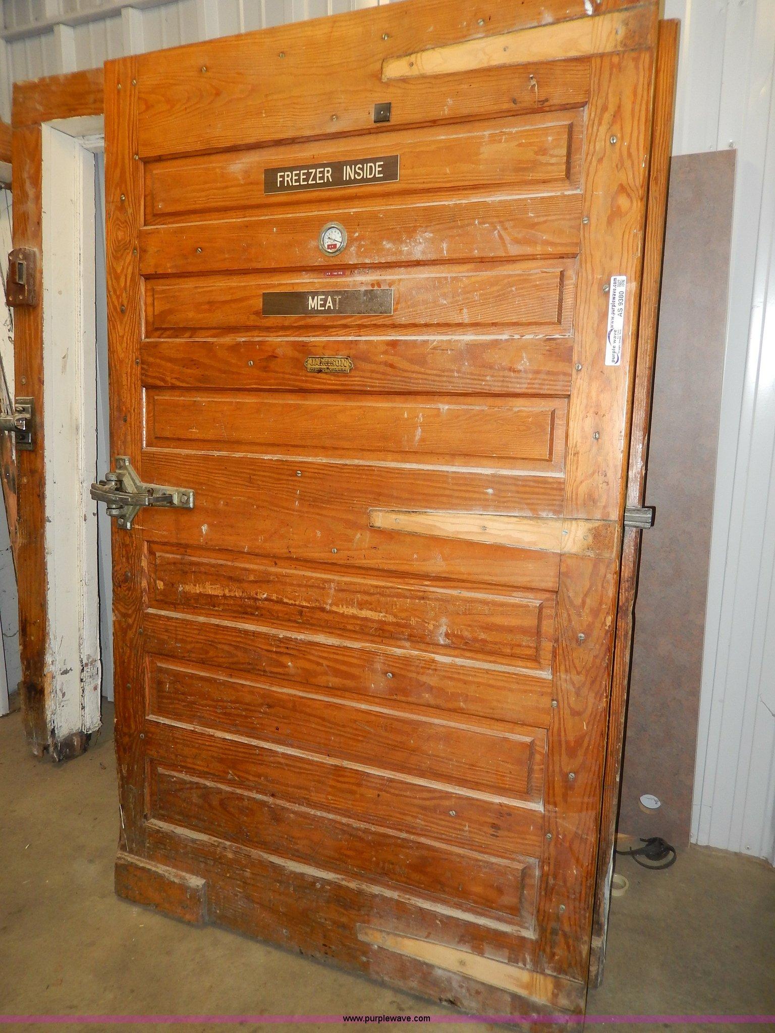 Full size in new window ... & 2) Jamison wood walk-in freezer doors and jams | Item AS938...