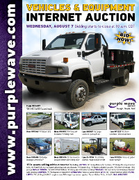 View August 7 Vehicles and Equipment Auction flyer