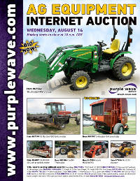 View August 14 Ag Equipment Auction flyer