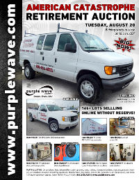 View August 20 American Catastrophe Retirement Auction flyer