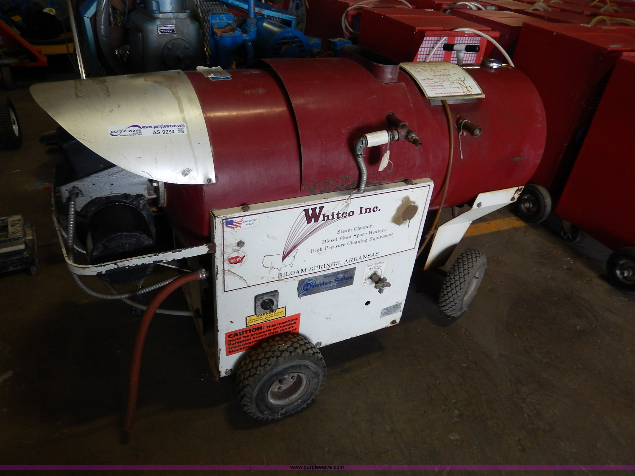 Whitco hot steam cleaner/pressure washer | Item AS9294 | SOL