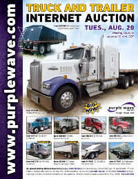 View August 20 Truck and Trailer Auction flyer