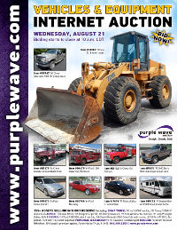 View August 21 Vehicles and Equipment Auction flyer