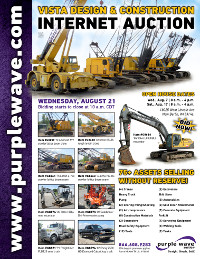 View August 21 Vista Design and Construction Dispersal Auction flyer
