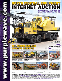 View August 22 North Central Construction Equipment Auction flyer