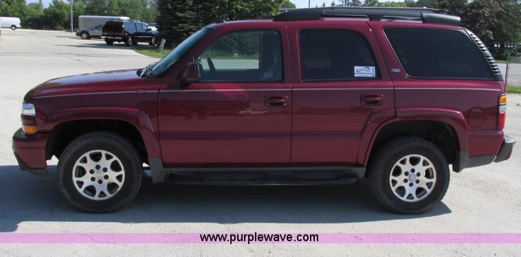 Chevrolet Tahoe Suv Item Sold August