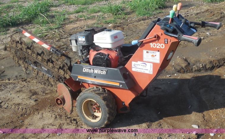 Ditch Witch 1020 Walk Behind Trencher Item F3201 Sold