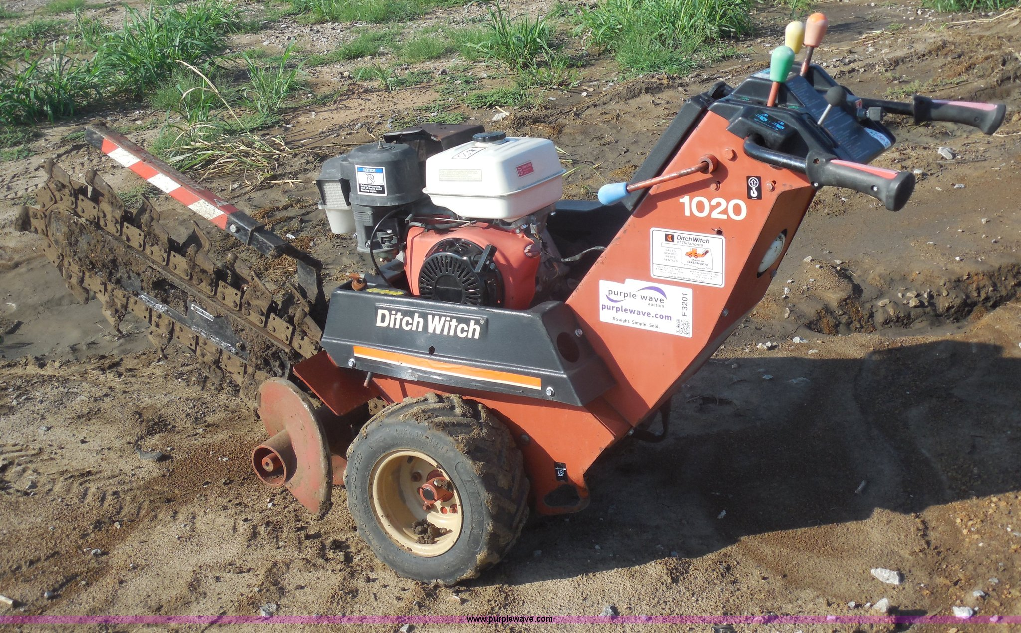 Ditch Witch 1020 walk behind trencher | Item F3201 | SOLD! A