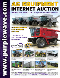 View August 28 Ag Equipment Auction flyer