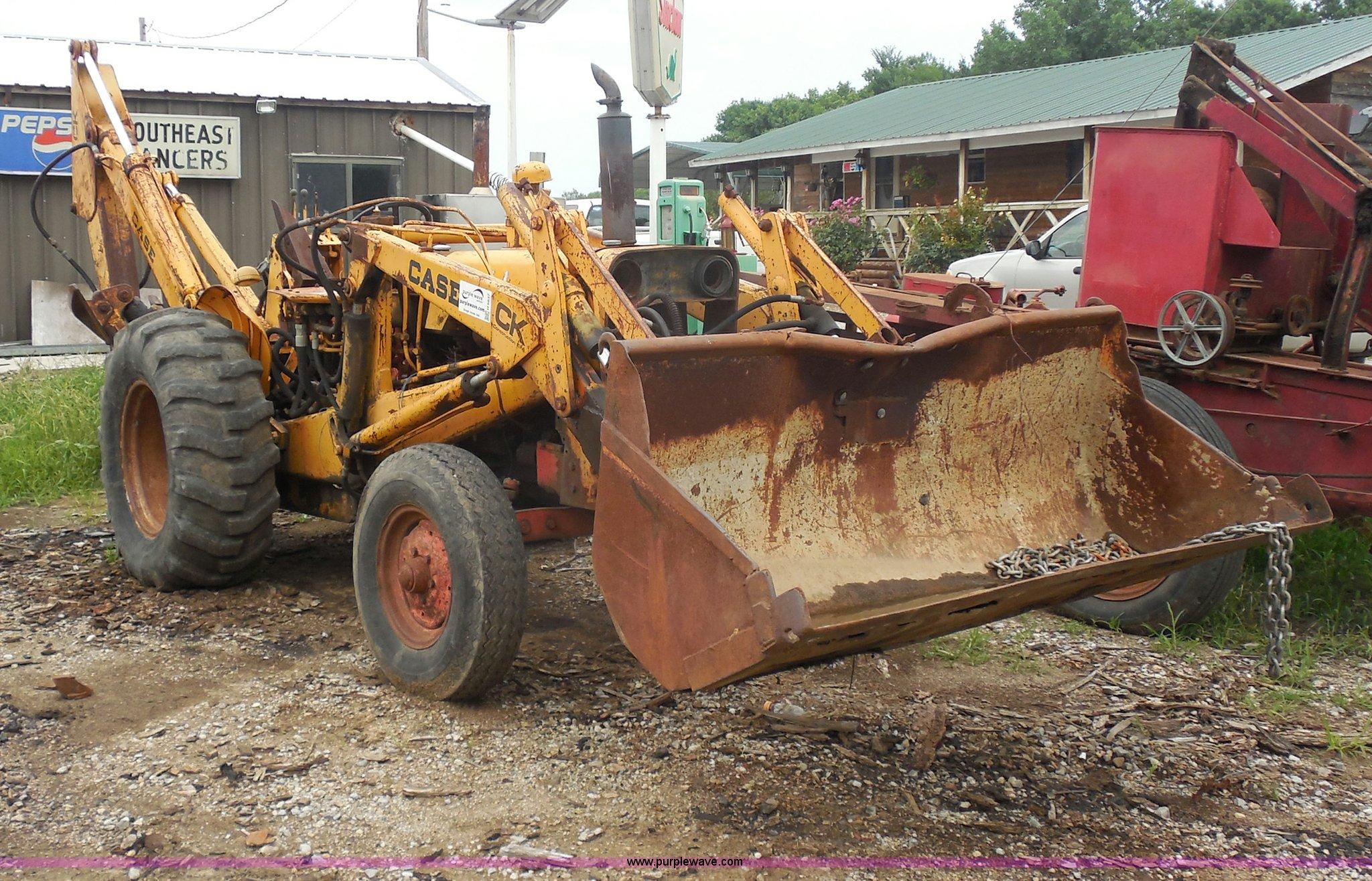 H9837 image for item H9837 1967 Case 580 backhoe