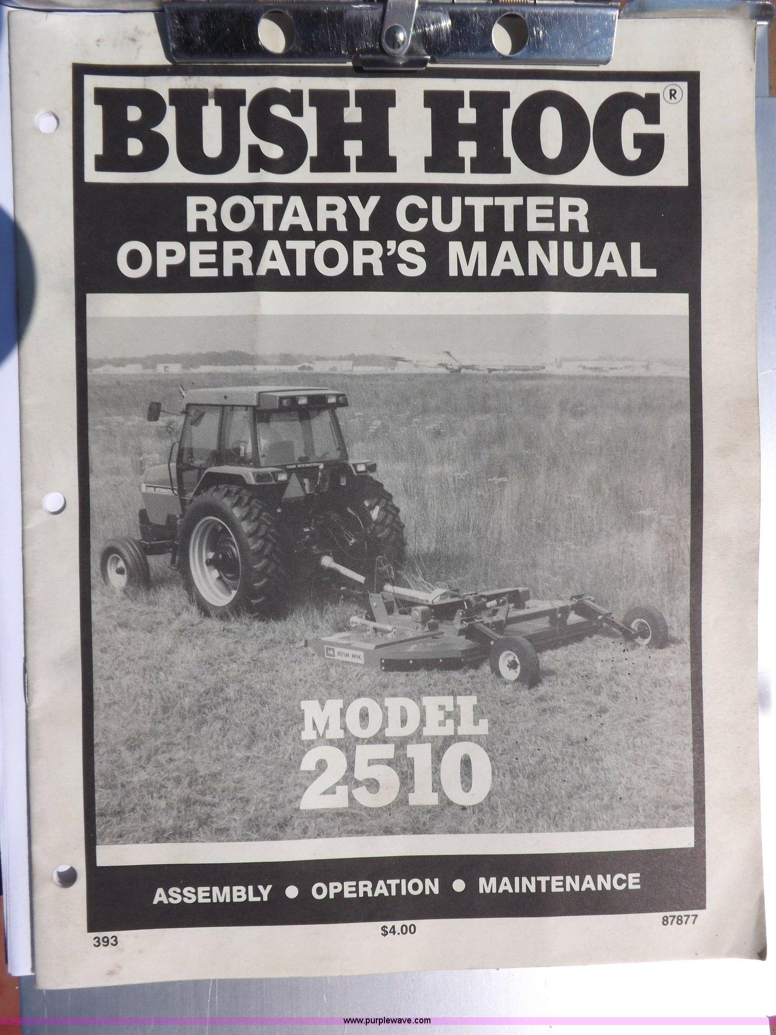 Bush Hog 12510 rotary mower | Item I7647 | SOLD! August 28 A