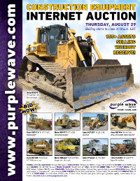 View August 29 Construction Equipment Auction flyer