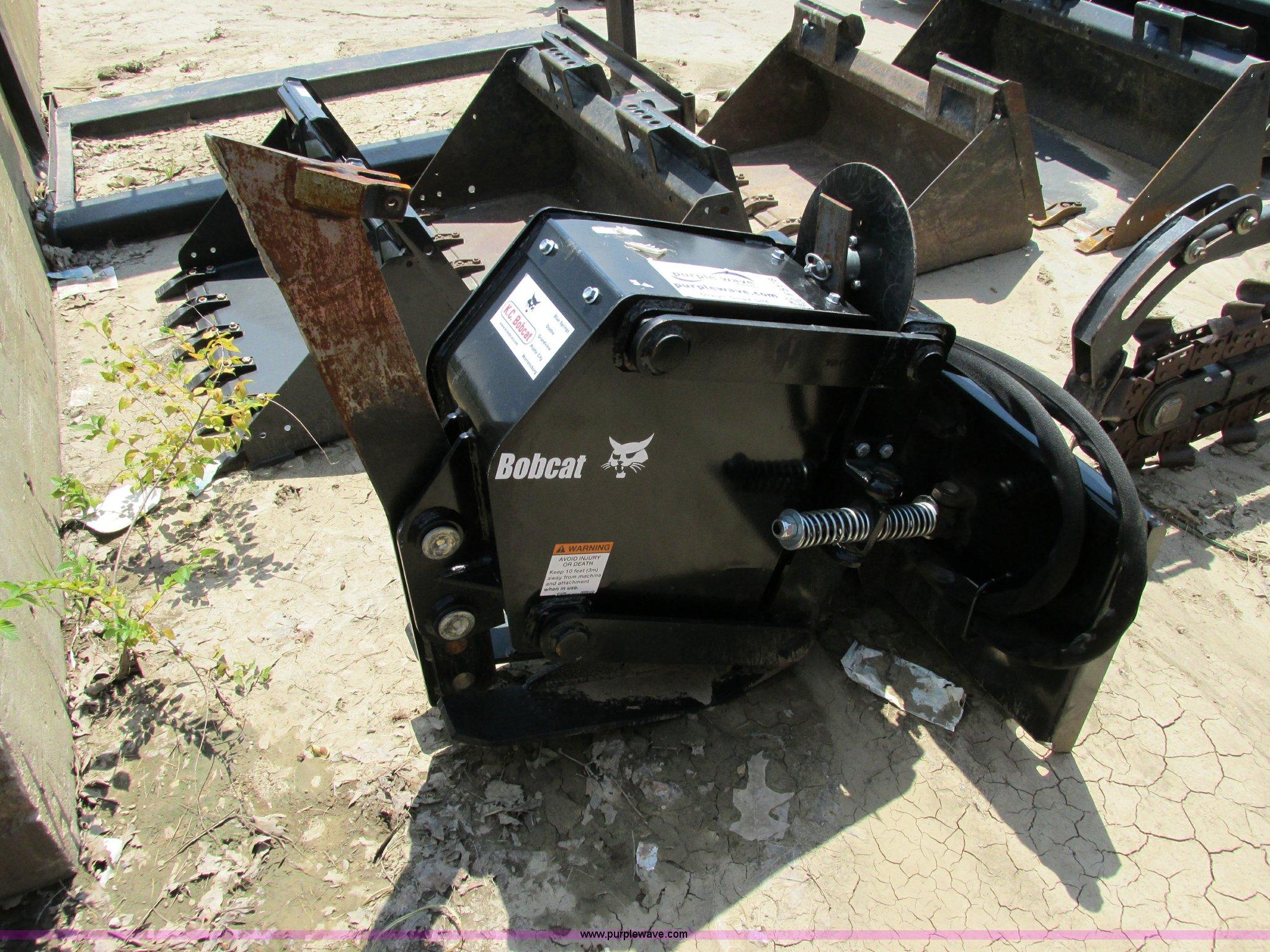 Bobcat vibratory plow | Item F5178 | SOLD! August 29 Constru