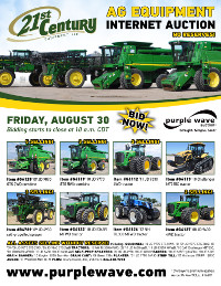 View August 30 21st Century Ag Equipment Auction flyer