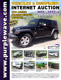View September 4 Vehicles and Equipment Auction flyer