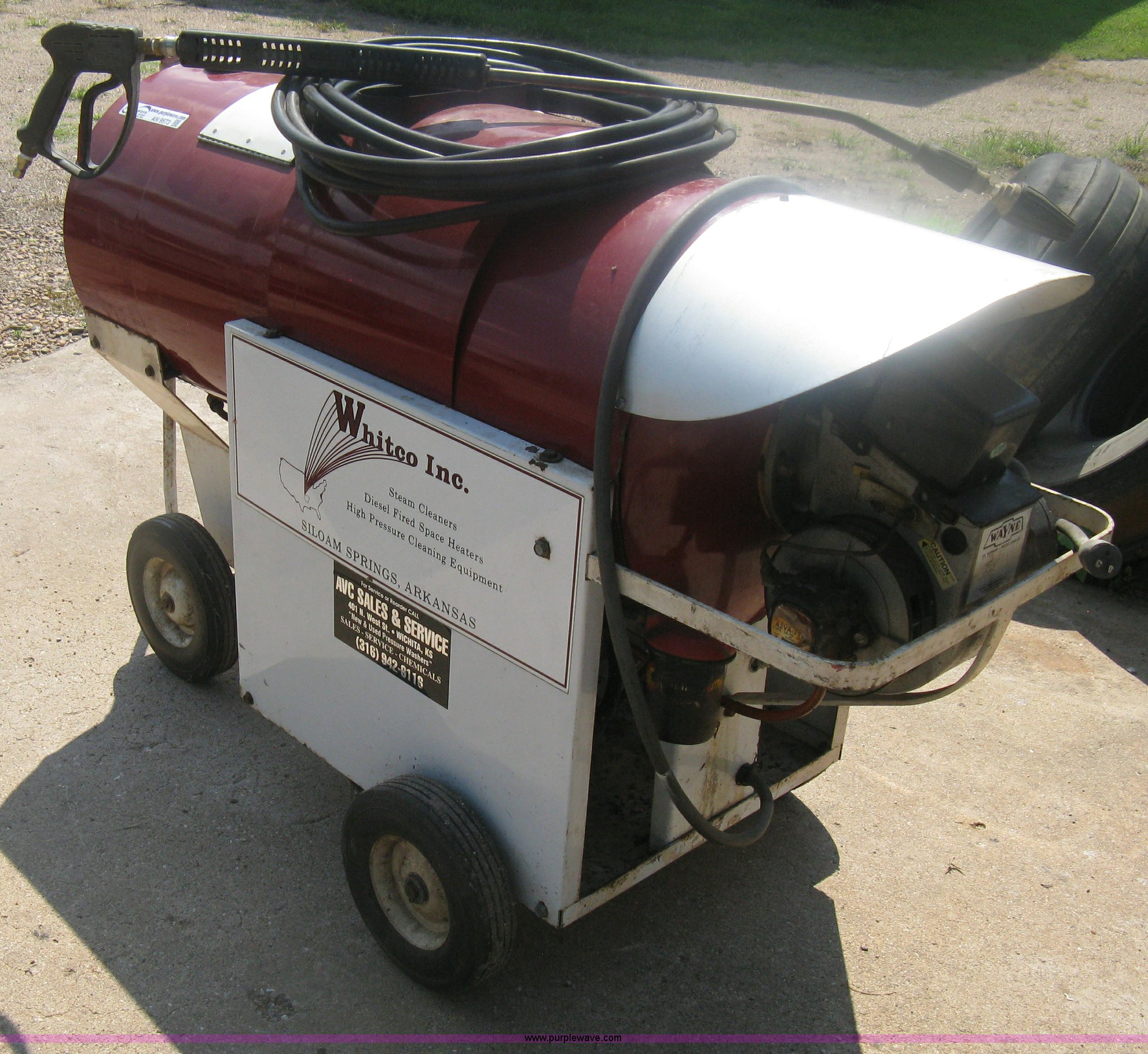 Whitco self contained pressure washer | Item AN9573 | SOLD!