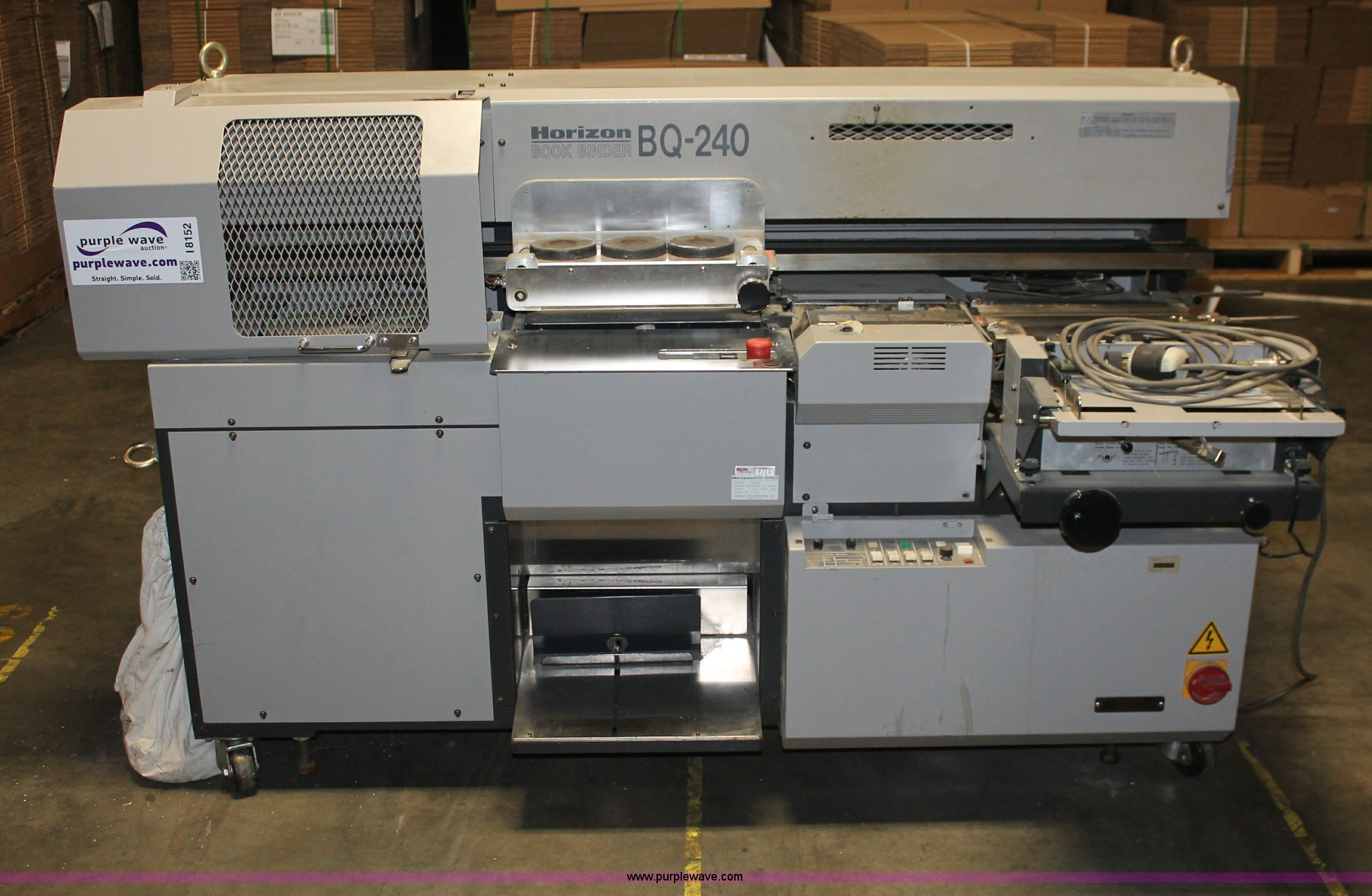 Horizon BQ-240 perfect bound book binder for sale in Kansas
