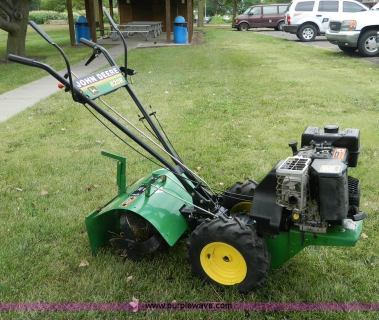 John Deere 820R rear tine tiller Item AD9185 SOLD Septe