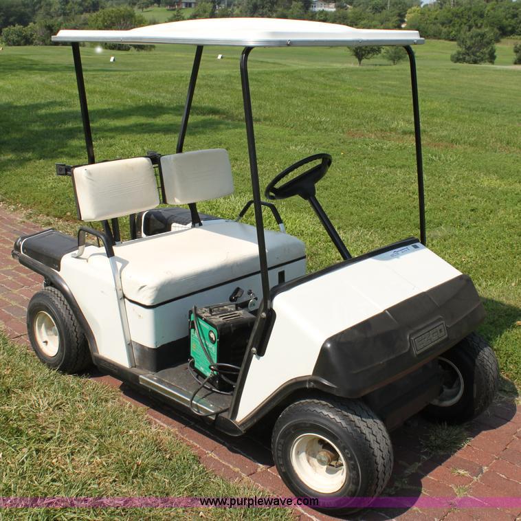 Textron EZ-GO golf cart | Item AE9126 | SOLD! September 10 G... on old ez go golf cart, ez go golf cart covers, ez go utility carts, 3 wheel ez go golf cart, ez go electric golf cart, ez go golf cart models years, ez go total charger, ez go golf cart tires, ez go golf cart parts, 2002 ez go golf cart, 19 72 ez go 3 wheeled golf cart, ez go golf cart manufacturer, ez go jacobsen golf cart,