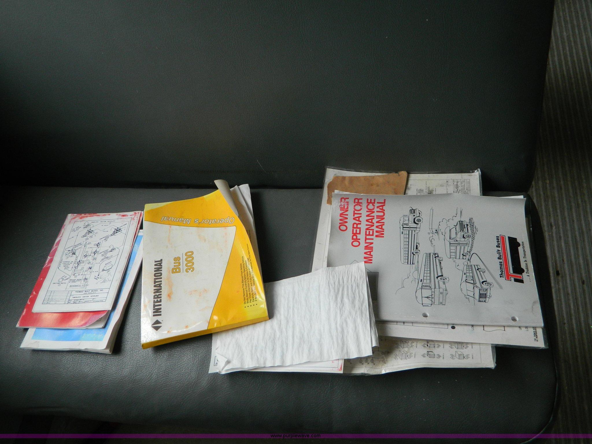 Thomas Bus Manual 2001 Yamaha Ox66 Wiring Diagram Schematic Fs Array 1995 International School Item D6009 Sold Se Rh Purplewave Com