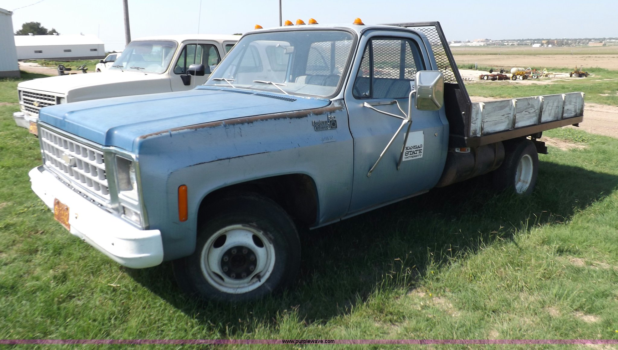 1980 Chevrolet C30 Custom Deluxe Flatbed Truck Item I7633 Chevy Heater Wiring Full Size In New Window