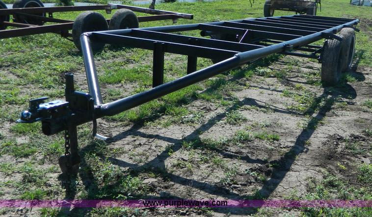 ad9156 image for item ad9156 shop built pipe frame tubing trailer