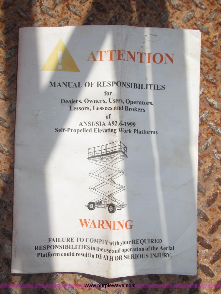 1997 JLG 2033E scissor lift | Item F7105 | SOLD! September 1