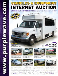 View September 18 Vehicles and Equipment Auction flyer