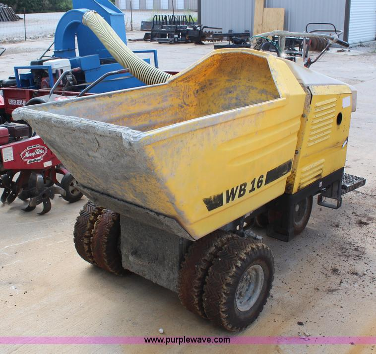 Wacker WB16 concrete buggy | Item H6662 | SOLD! September 18