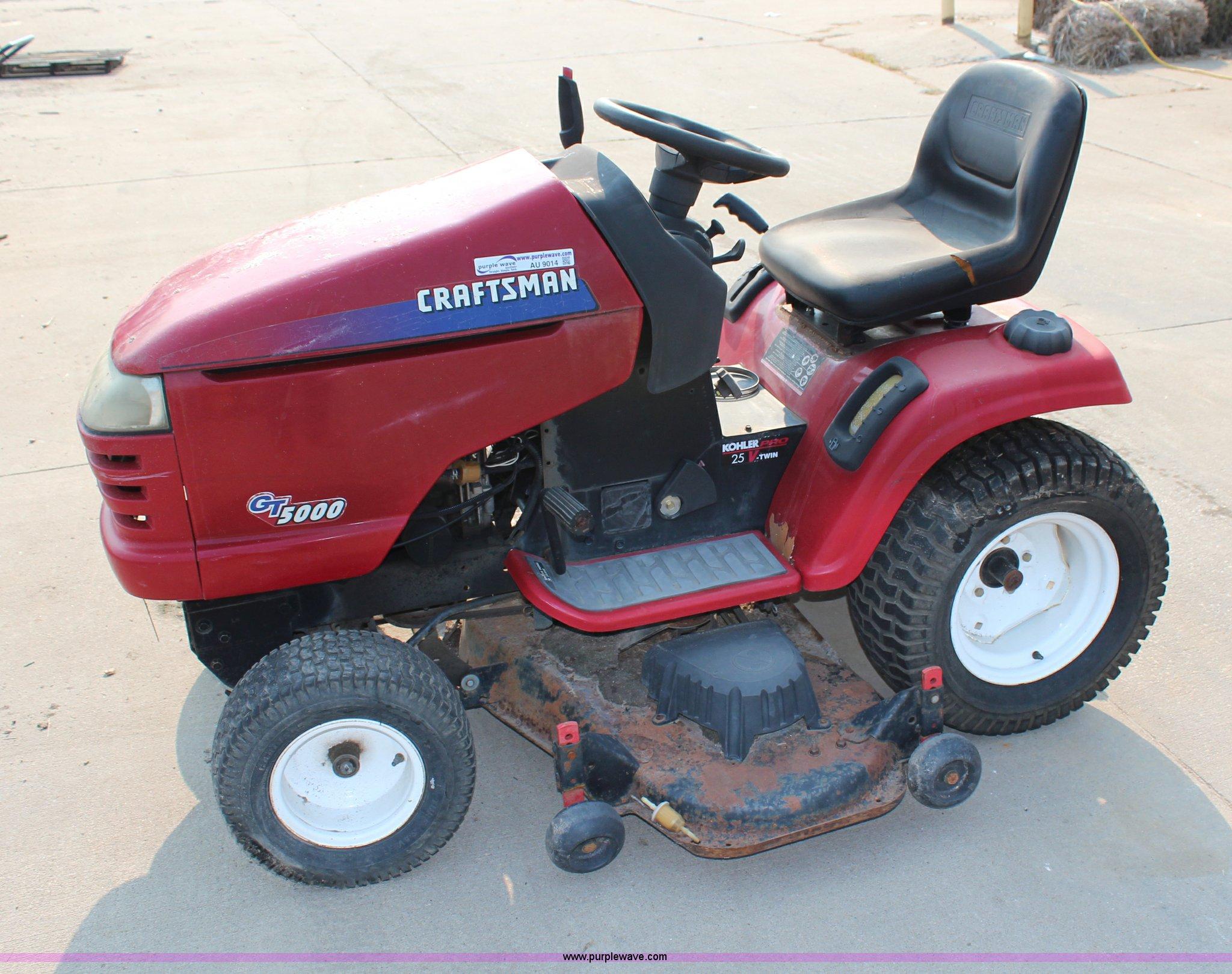 Craftsman GT5000 lawn mower   Item AU9014   SOLD! September