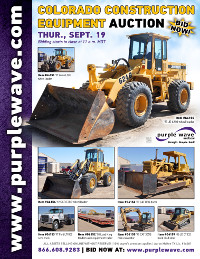 View September 19 Colorado Construction Equipment Auction flyer