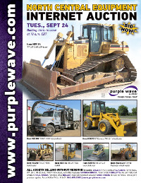 View September 24 North Central Construction Equipment Auction flyer