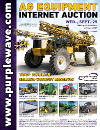 View September 25 Ag Equipment Auction flyer