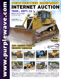 View September 26 Construction Equipment Auction flyer