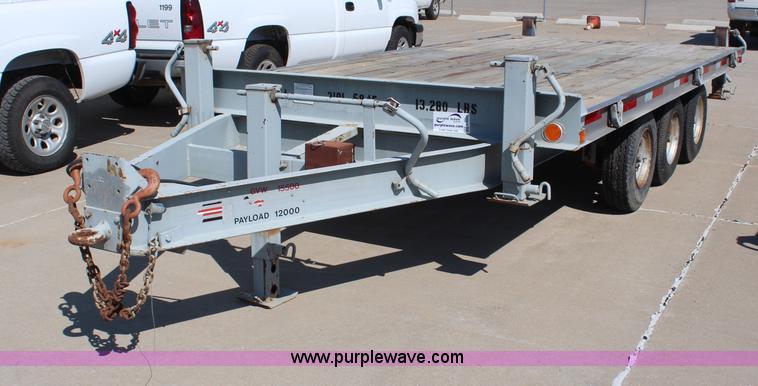 1989 hudson triple axle flatbed trailer item h6622. Black Bedroom Furniture Sets. Home Design Ideas
