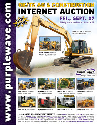 View September 27 Oklahoma/Texas Ag and Construction Equipment Auction flyer