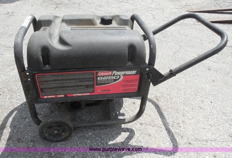 Coleman Powermate 6250 Generator Item Au9453 Sold