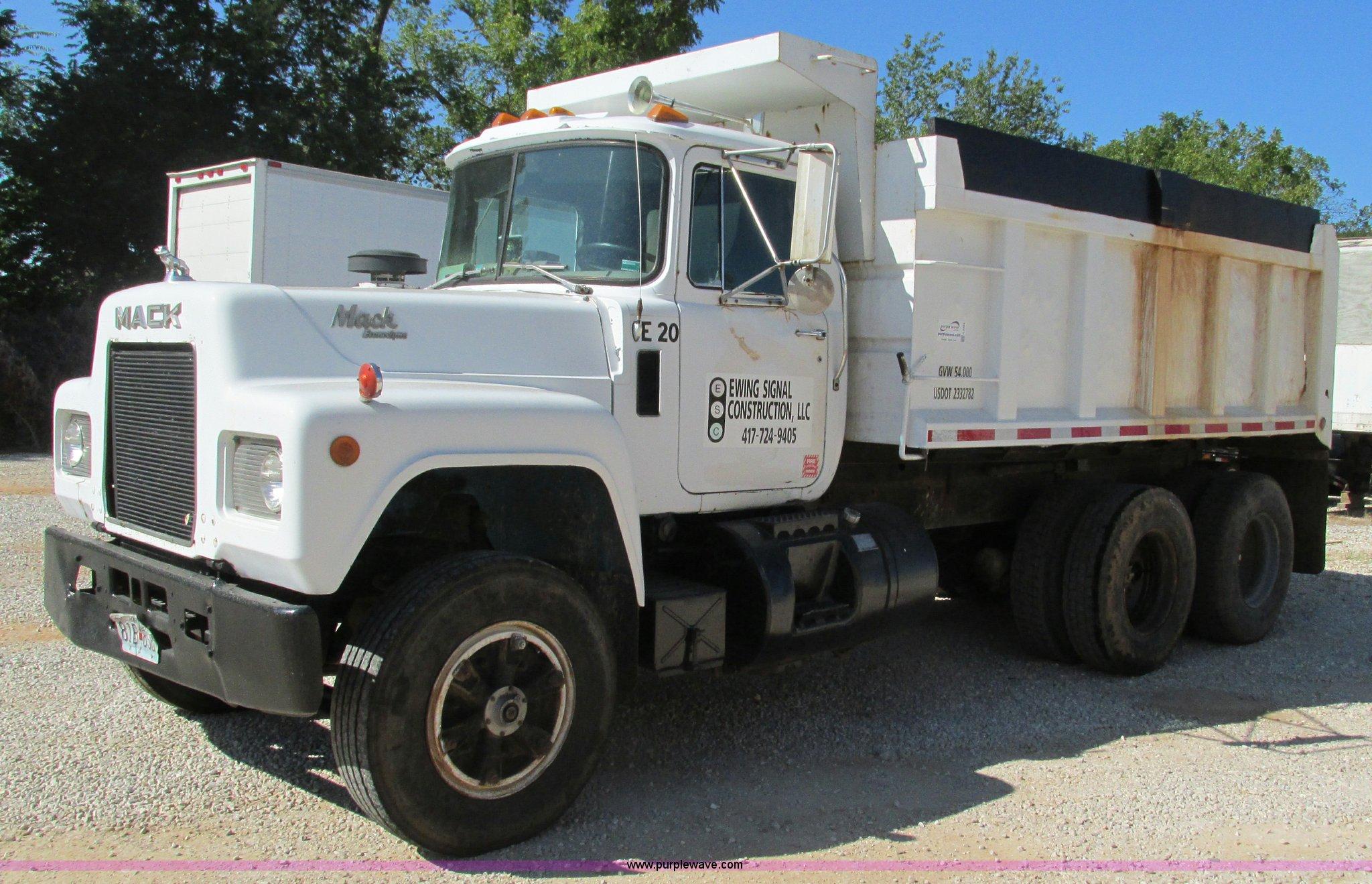 Mack Dump Truck Trailer Wiring Library G9444 Image For Item 1989 Econodyne R690st