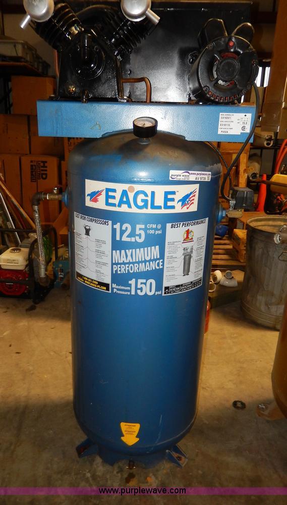 eagle 60 gallon air compressor item av9739 sold october