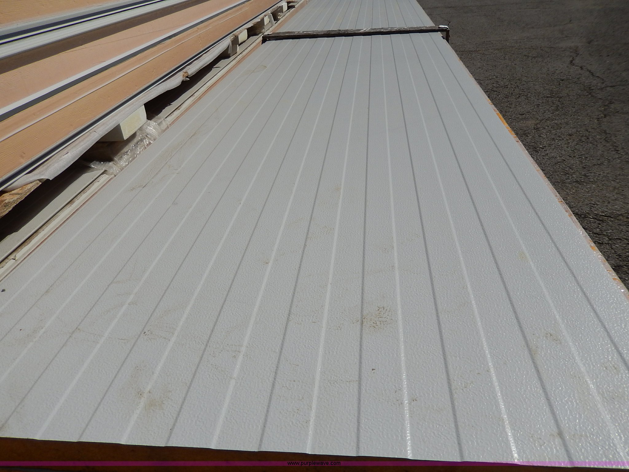 12 Tongue And Groove Insulated Sheet Metal Panels Item