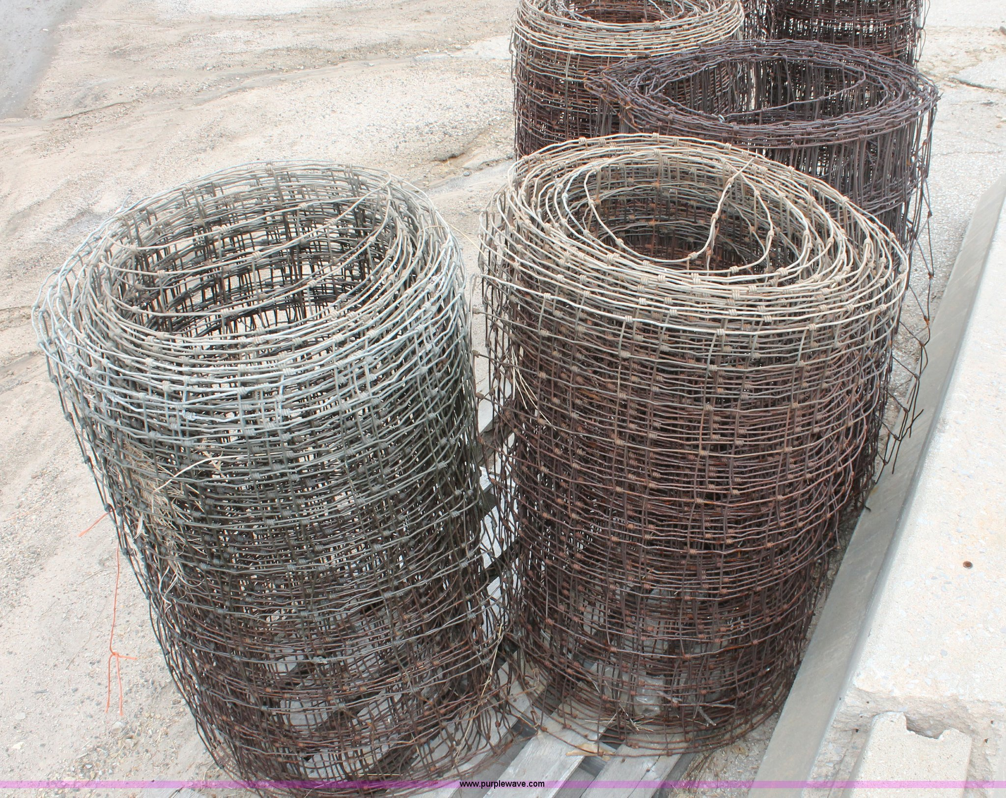 6) partial rolls of woven wire fence | Item AV9129 | SOLD! ...