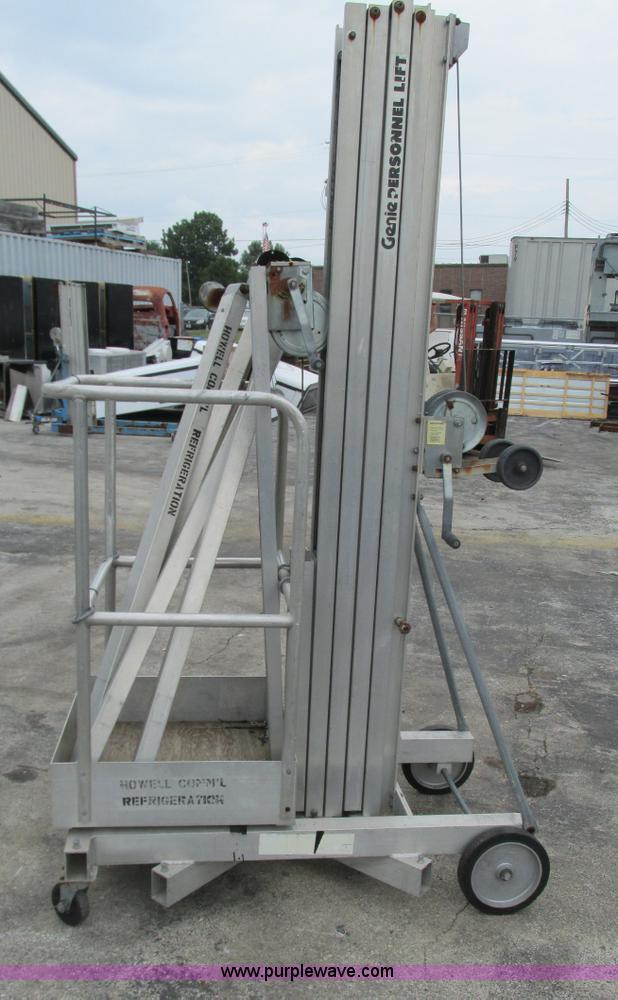 Genie manual lift, manual push equipment lift, 1000 lb. Load.