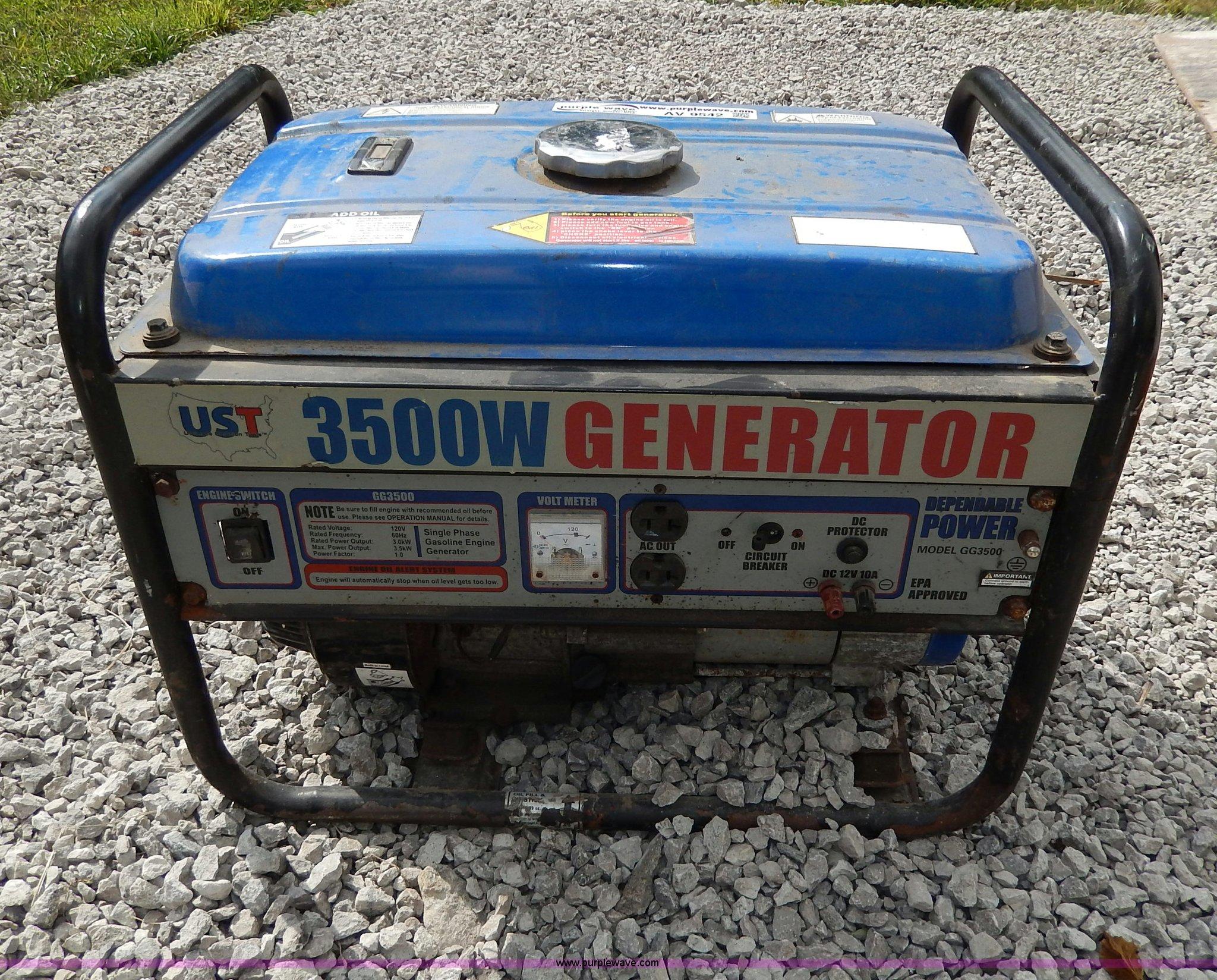 UST GG3500 generator Item AV9542