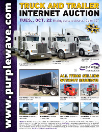 View October 22 Truck and Trailer Auction flyer