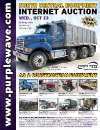 View October 23 North Central Ag and Construction Equipment Auction flyer